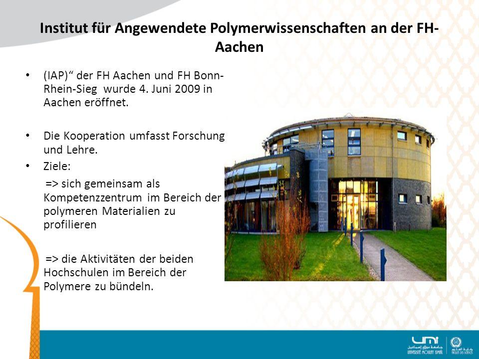 Institut für Angewendete Polymerwissenschaften an der FH-Aachen