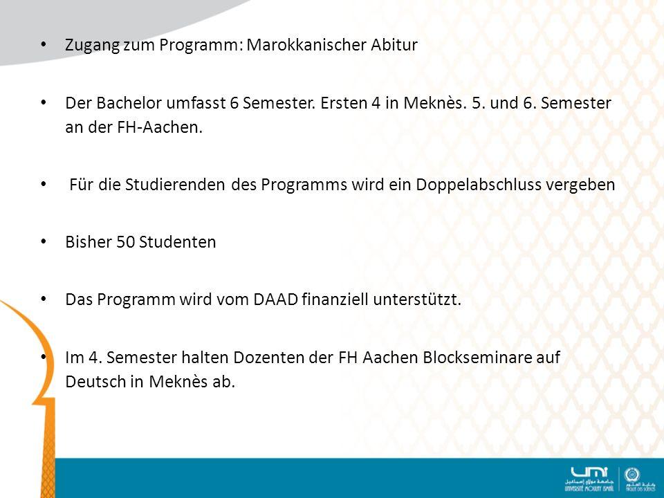 Zugang zum Programm: Marokkanischer Abitur
