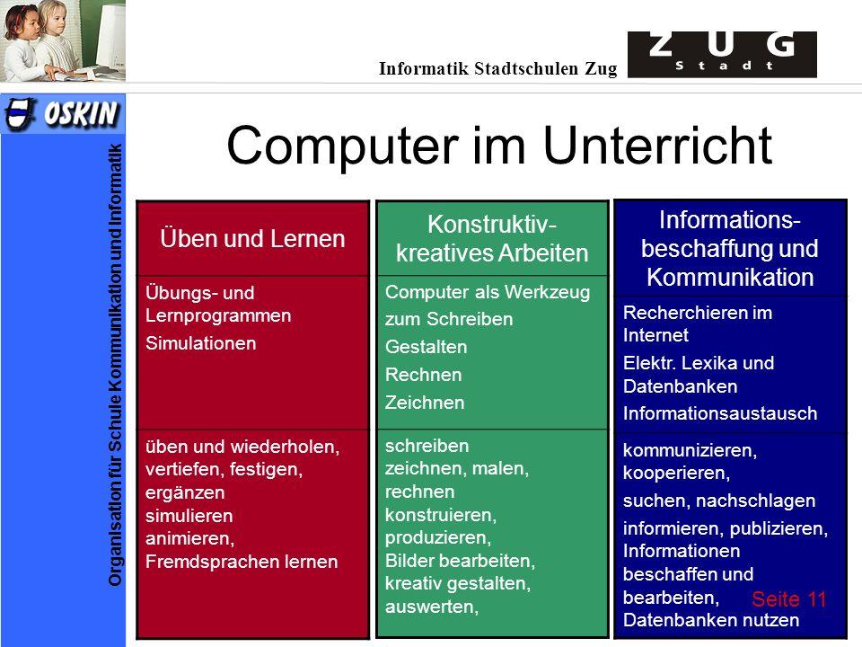 Computer im Unterricht