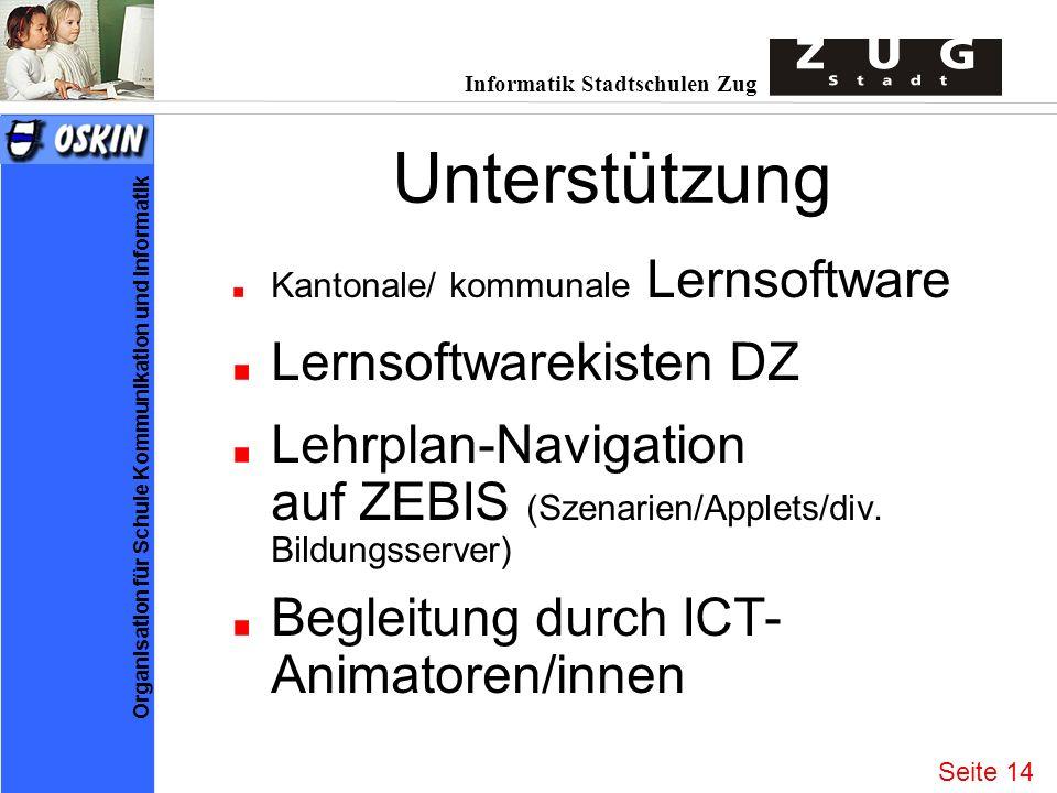 Unterstützung Lernsoftwarekisten DZ