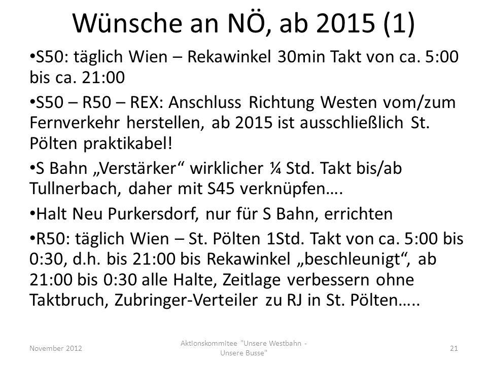 Aktionskommitee Unsere Westbahn - Unsere Busse