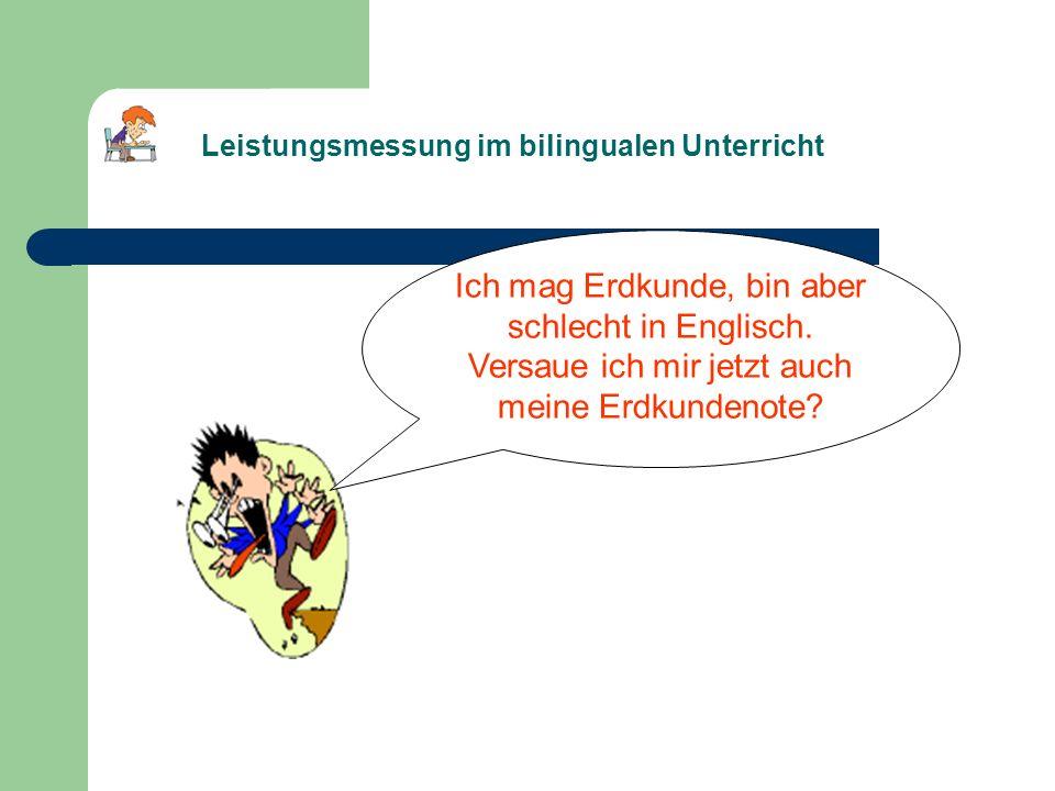 Leistungsmessung im bilingualen Unterricht