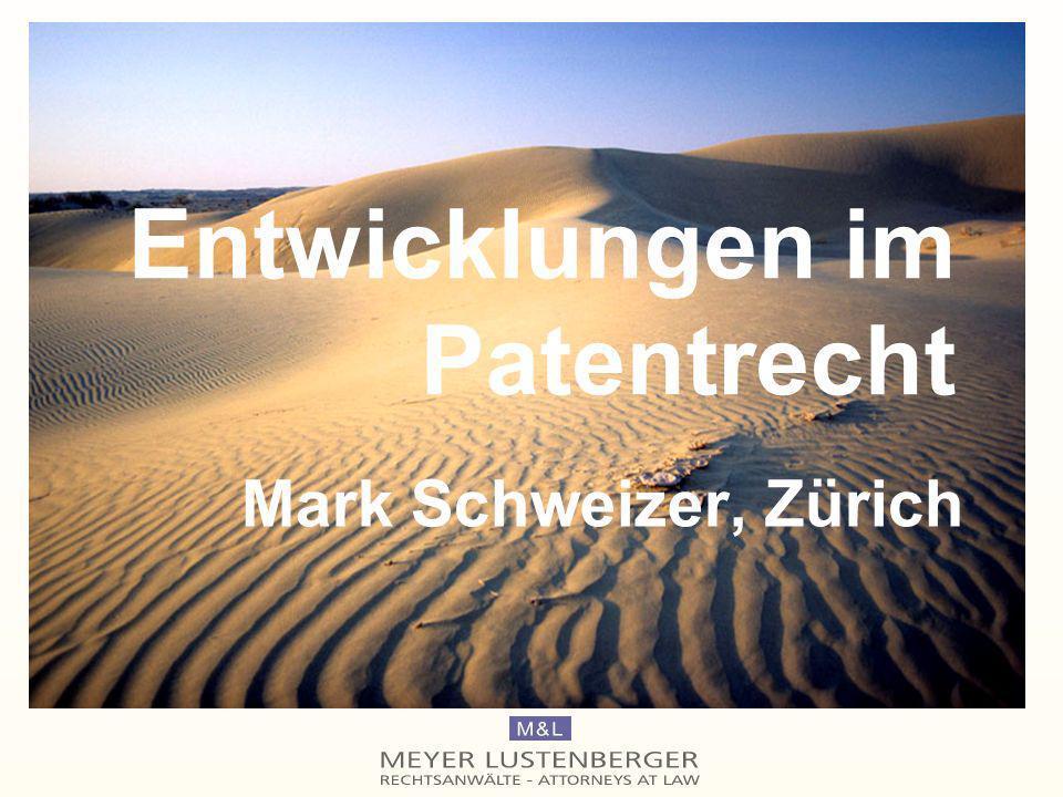 Entwicklungen im Patentrecht