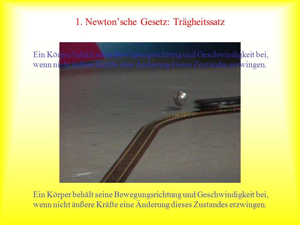 1. Newton'sche Gesetz: Trägheitssatz