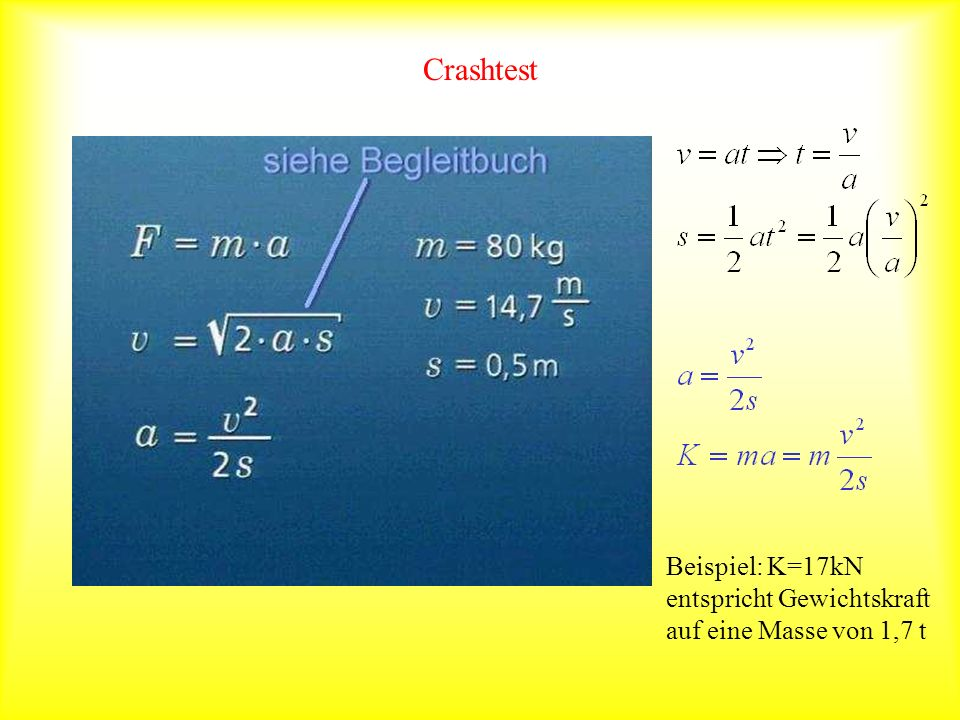 Crashtest Beispiel: K=17kN