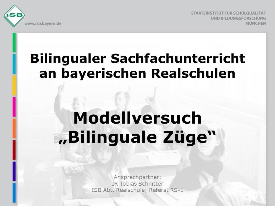 Bilingualer Sachfachunterricht an bayerischen Realschulen