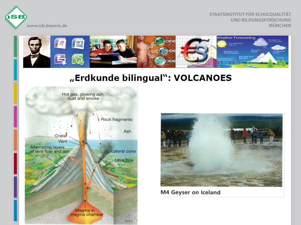 """""""Erdkunde bilingual : VOLCANOES"""