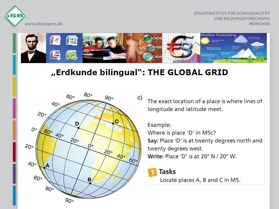 """Erdkunde bilingual : THE GLOBAL GRID"