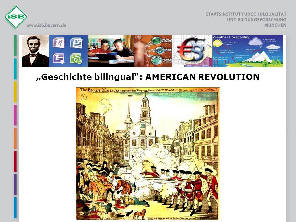 """Geschichte bilingual : AMERICAN REVOLUTION"