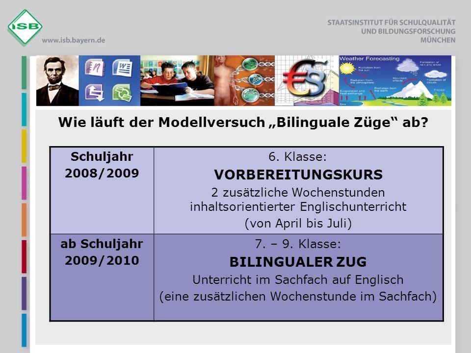 """Wie läuft der Modellversuch """"Bilinguale Züge ab"""