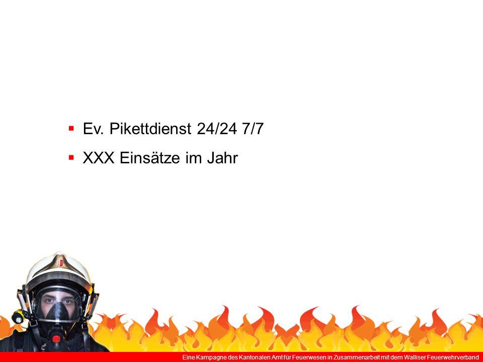 Ev. Pikettdienst 24/24 7/7 XXX Einsätze im Jahr