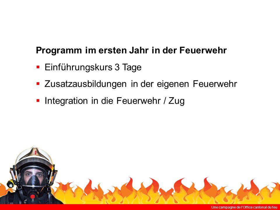 Programm im ersten Jahr in der Feuerwehr Einführungskurs 3 Tage