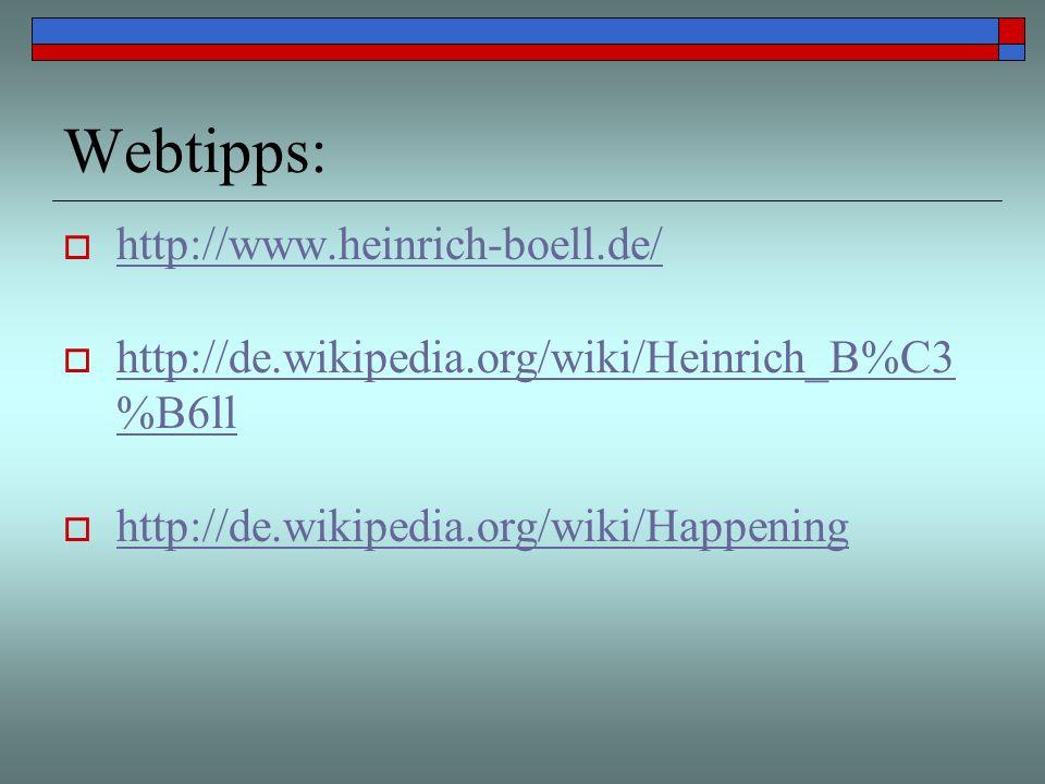 Webtipps: http://www.heinrich-boell.de/