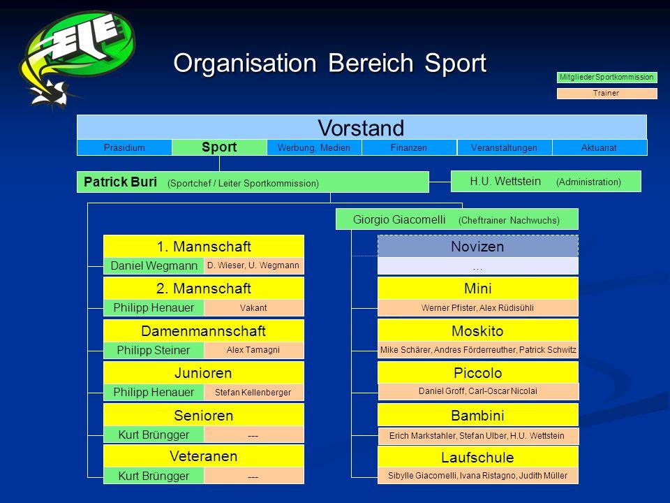 Organisation Bereich Sport