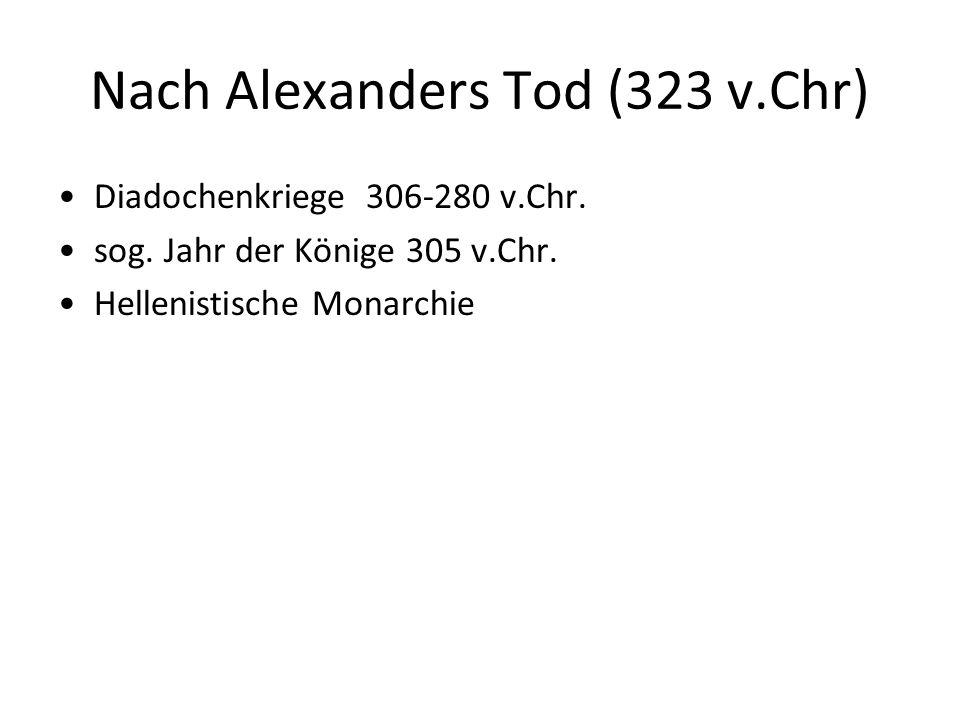 Nach Alexanders Tod (323 v.Chr)