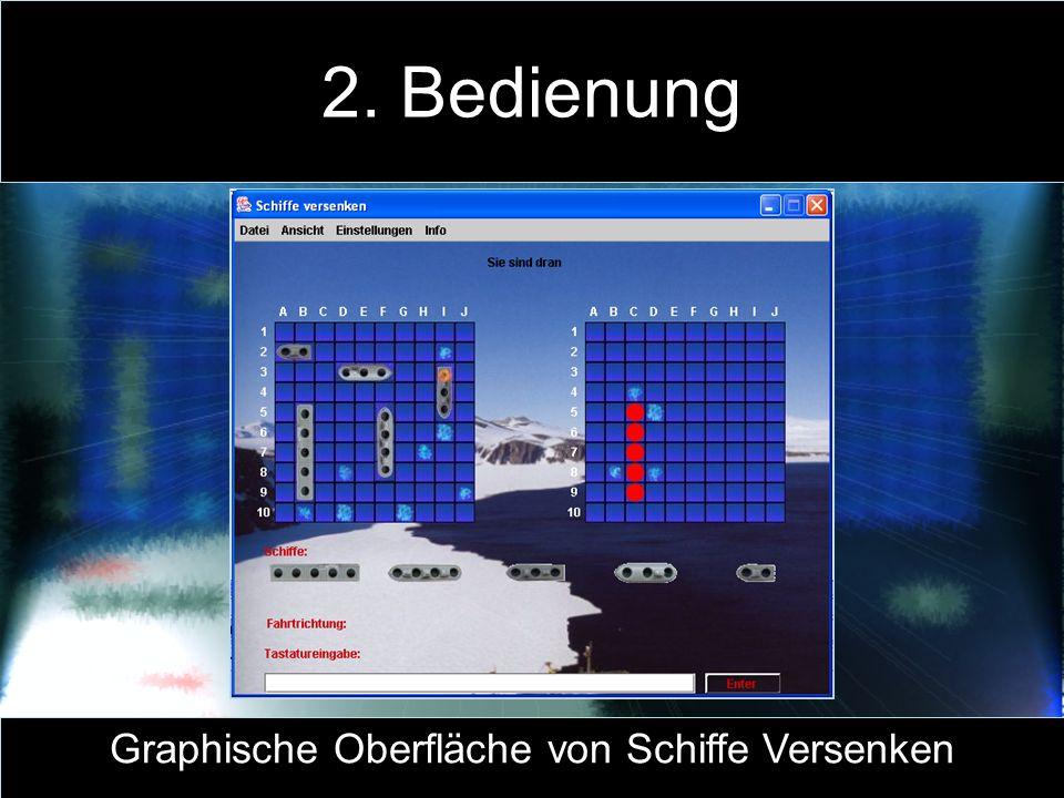 Graphische Oberfläche von Schiffe Versenken