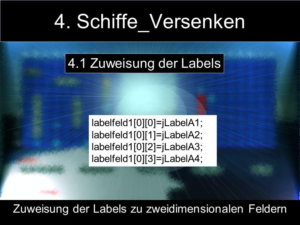 Zuweisung der Labels zu zweidimensionalen Feldern