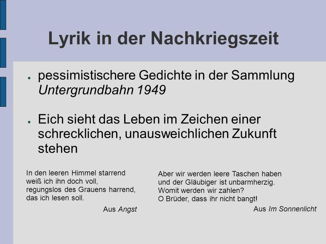 Lyrik in der Nachkriegszeit