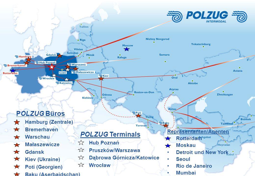 POLZUG Büros POLZUG Terminals Hamburg (Zentrale) Bremerhaven Warschau