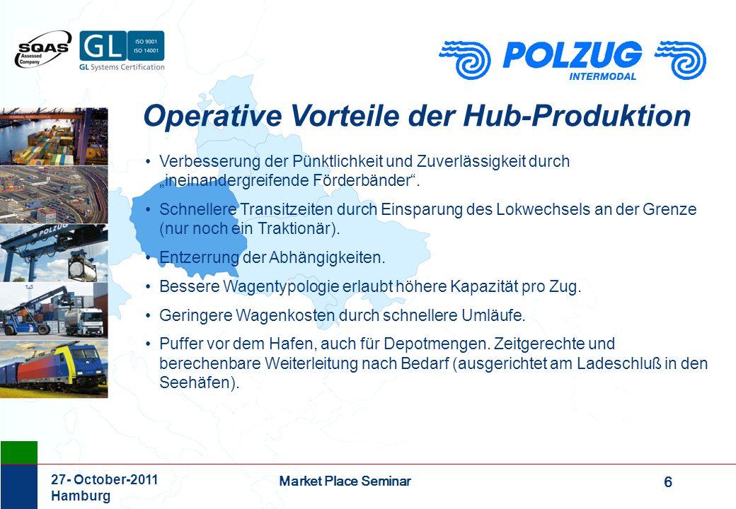 Operative Vorteile der Hub-Produktion