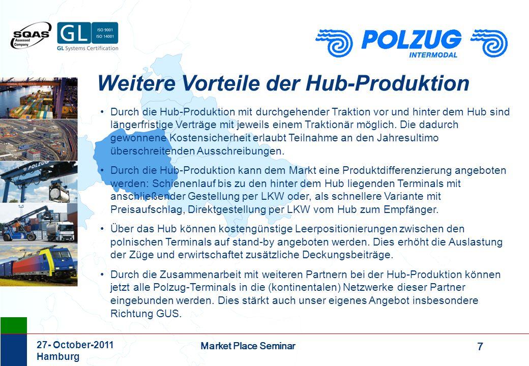 Weitere Vorteile der Hub-Produktion