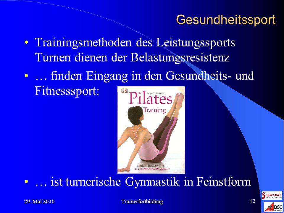 … finden Eingang in den Gesundheits- und Fitnesssport: