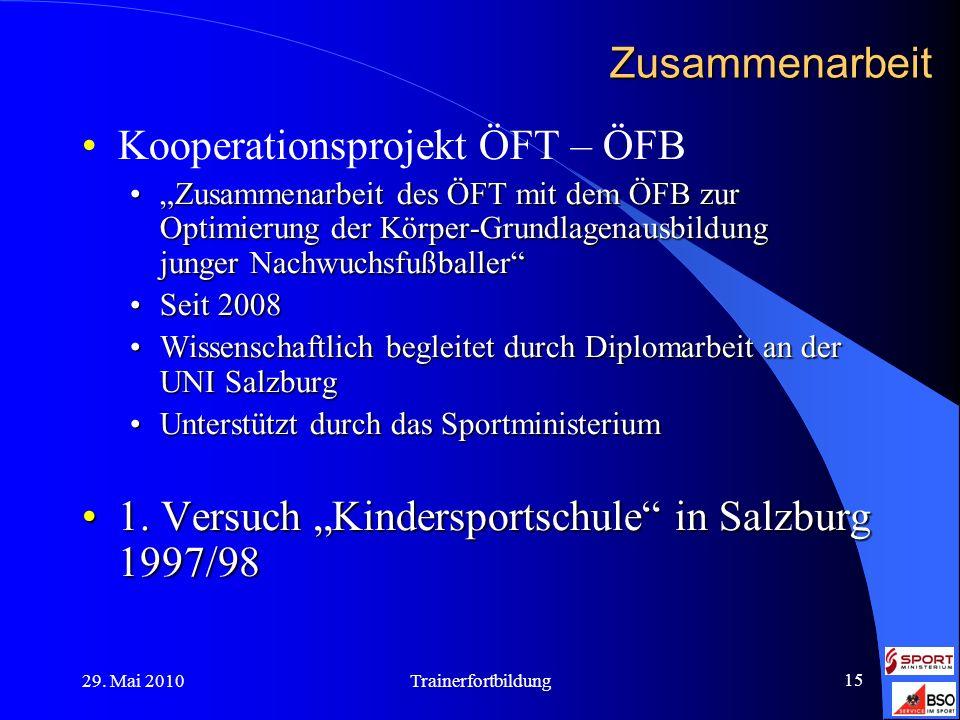 Kooperationsprojekt ÖFT – ÖFB