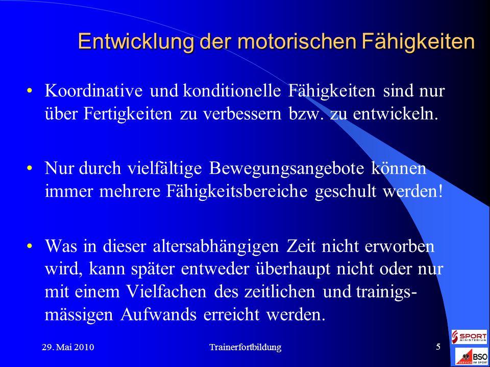 Entwicklung der motorischen Fähigkeiten