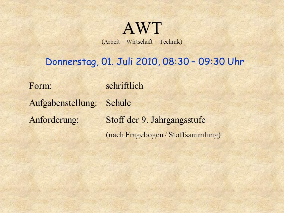 AWT (Arbeit – Wirtschaft – Technik)