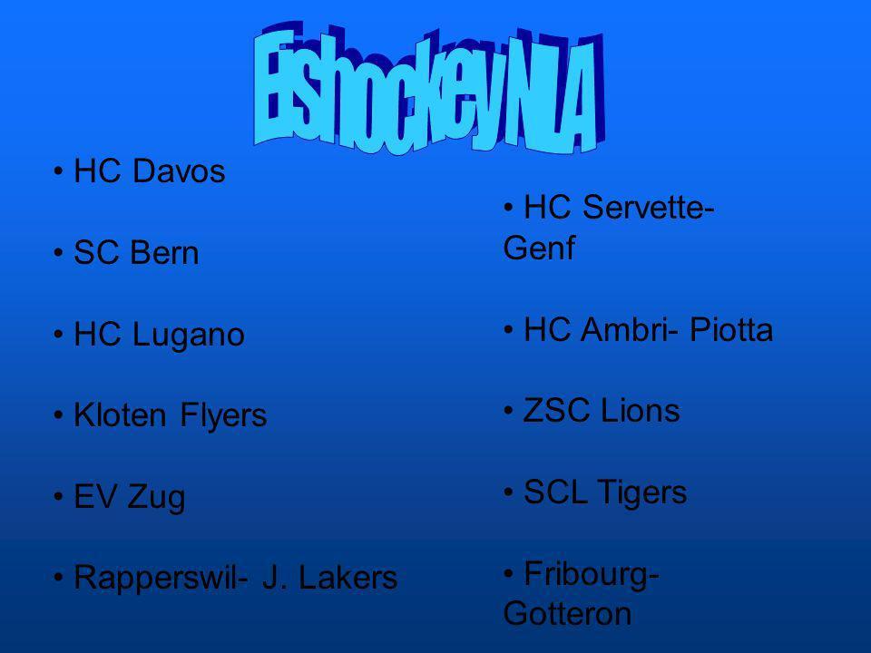 Eishockey NLA HC Davos HC Servette- Genf SC Bern HC Lugano