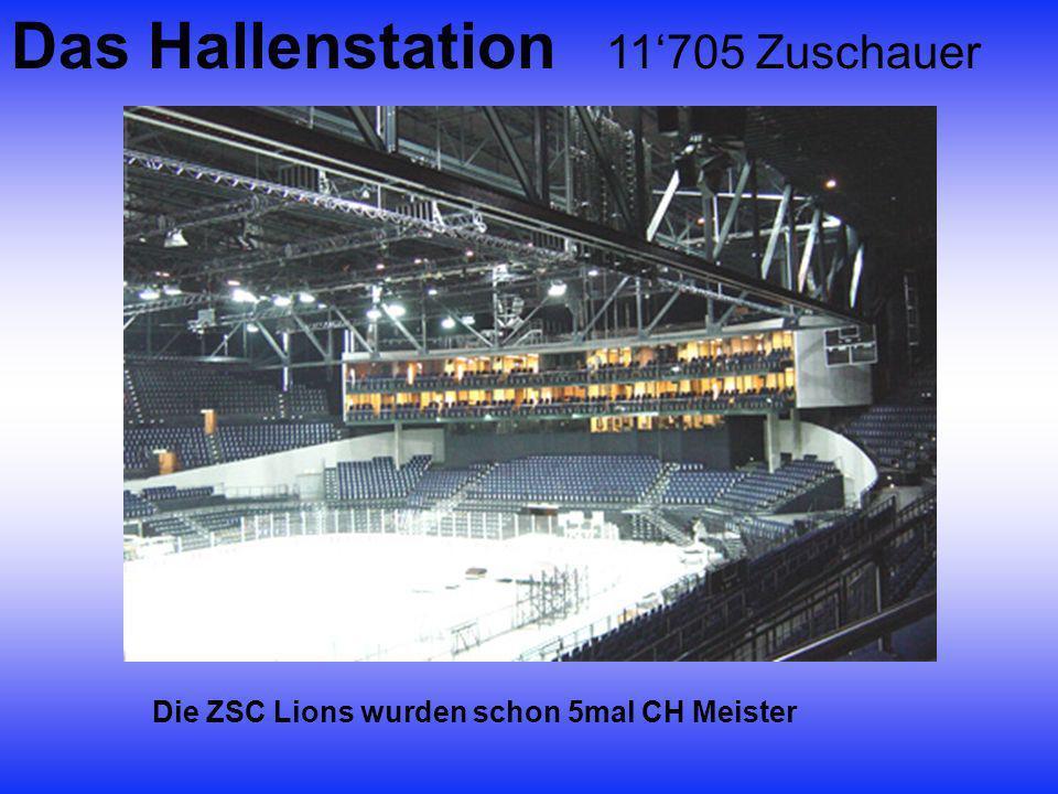 Das Hallenstation 11'705 Zuschauer