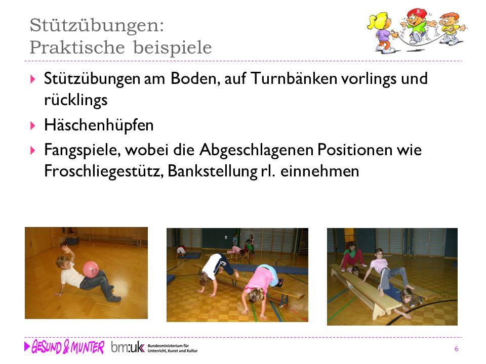Stützübungen: Praktische beispiele