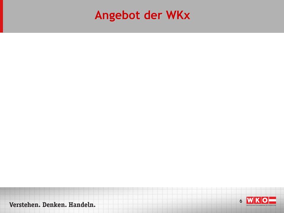 Angebot der WKx