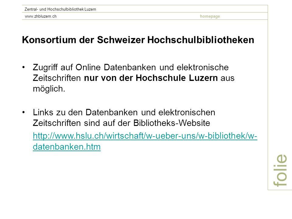 folie Konsortium der Schweizer Hochschulbibliotheken