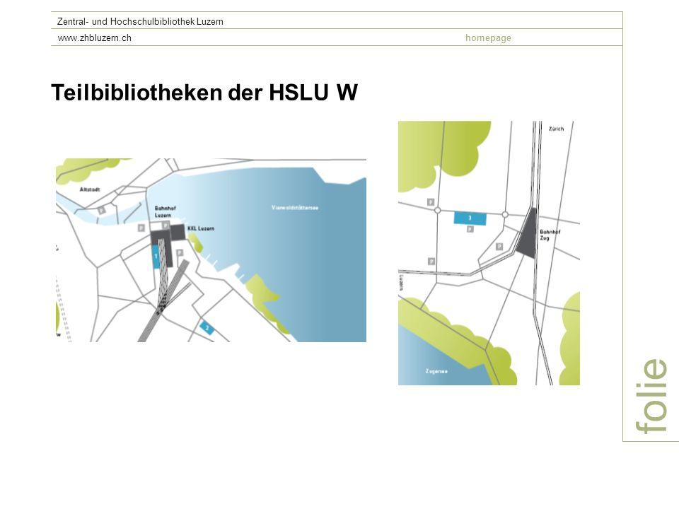 folie Teilbibliotheken der HSLU W