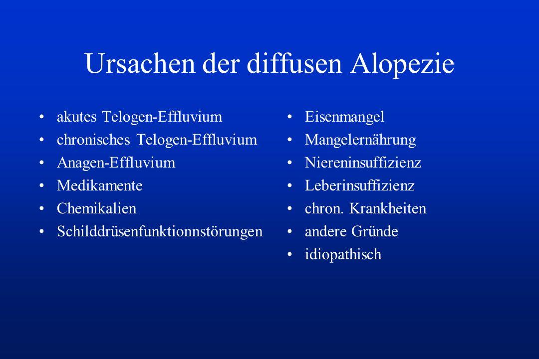 Ursachen der diffusen Alopezie