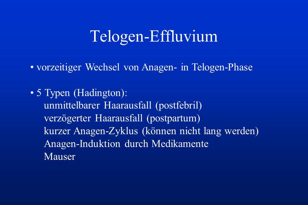Telogen-Effluvium vorzeitiger Wechsel von Anagen- in Telogen-Phase