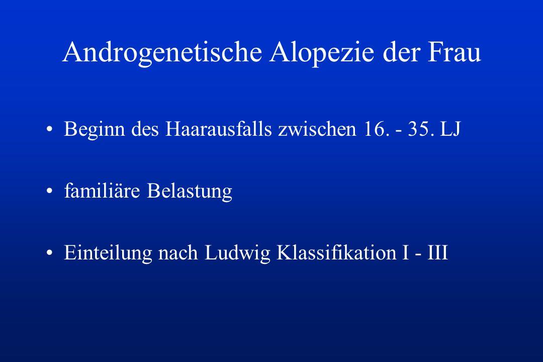 Androgenetische Alopezie der Frau