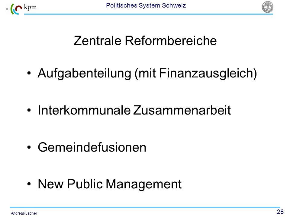 Zentrale Reformbereiche