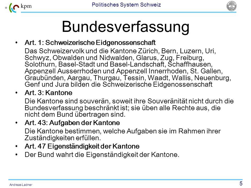 Bundesverfassung Art. 1: Schweizerische Eidgenossenschaft