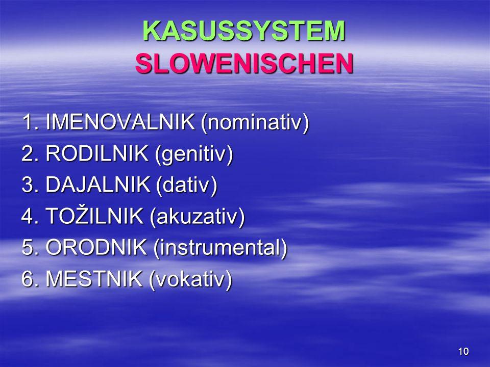 KASUSSYSTEM SLOWENISCHEN