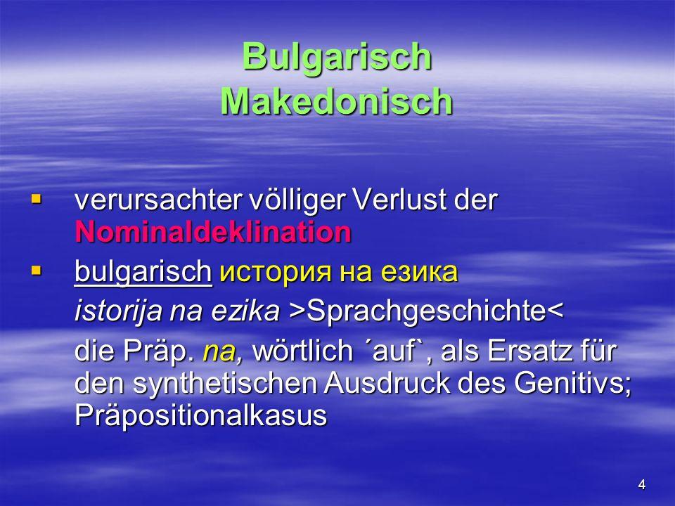 Bulgarisch Makedonisch