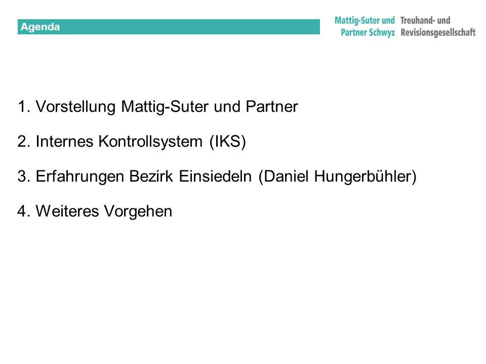 Vorstellung Mattig-Suter und Partner Internes Kontrollsystem (IKS)