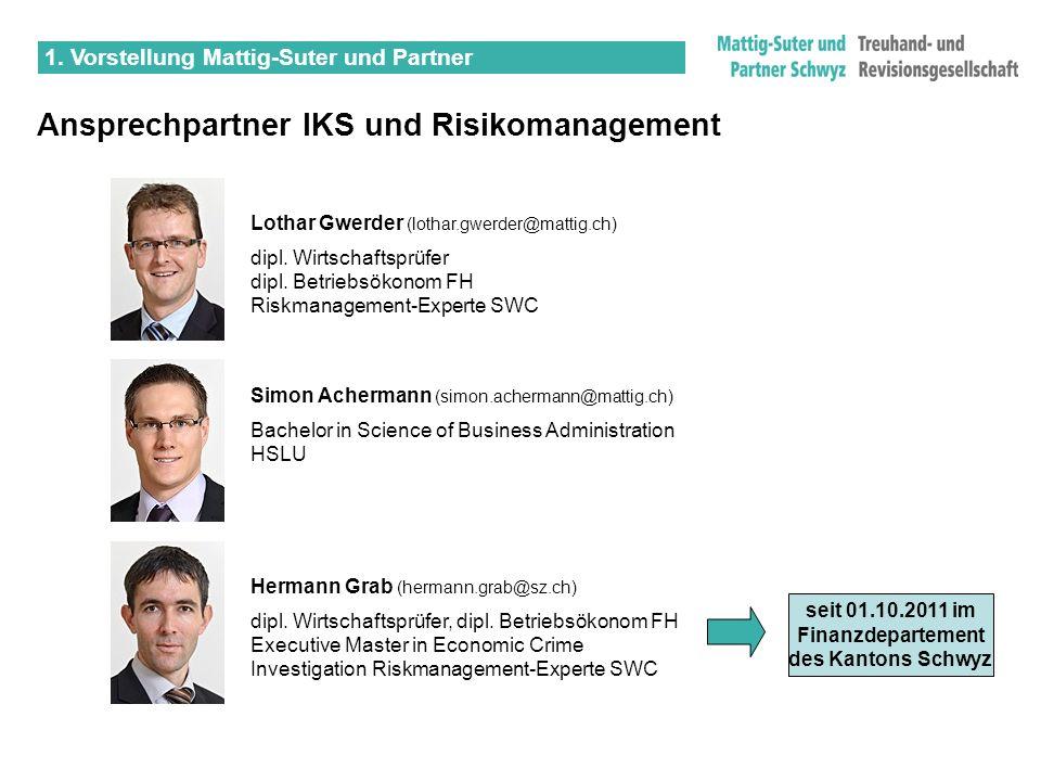 Ansprechpartner IKS und Risikomanagement