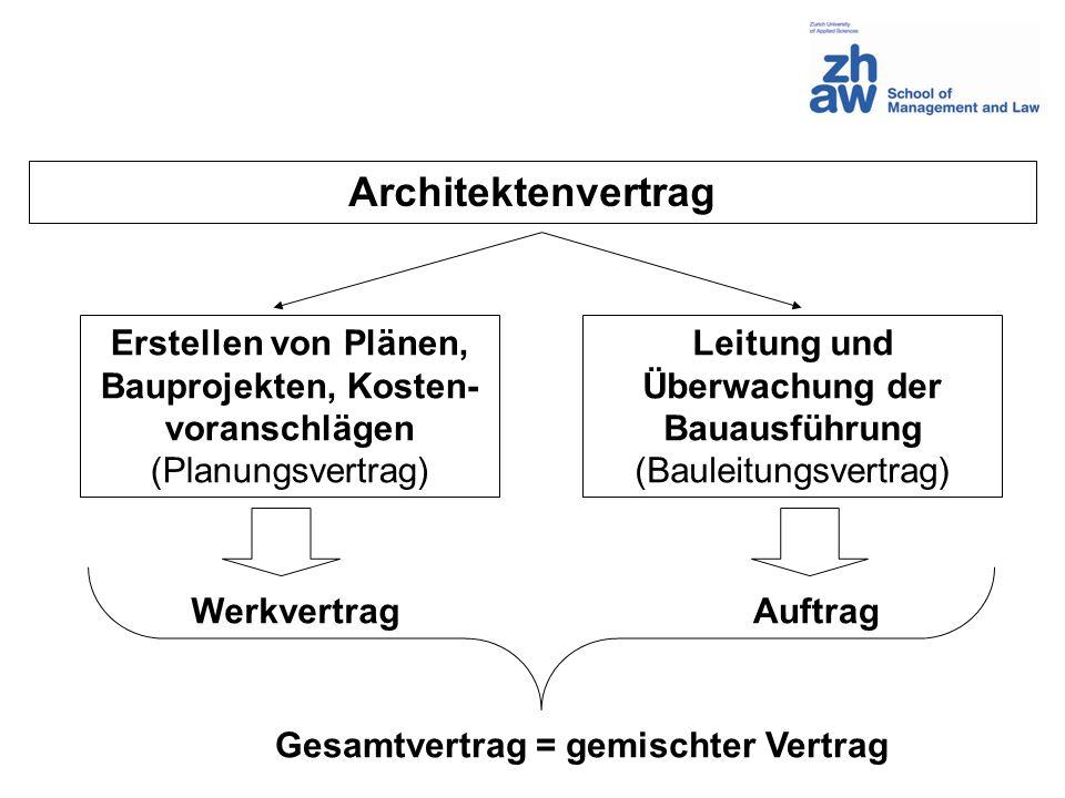 Leitung und Überwachung der Bauausführung
