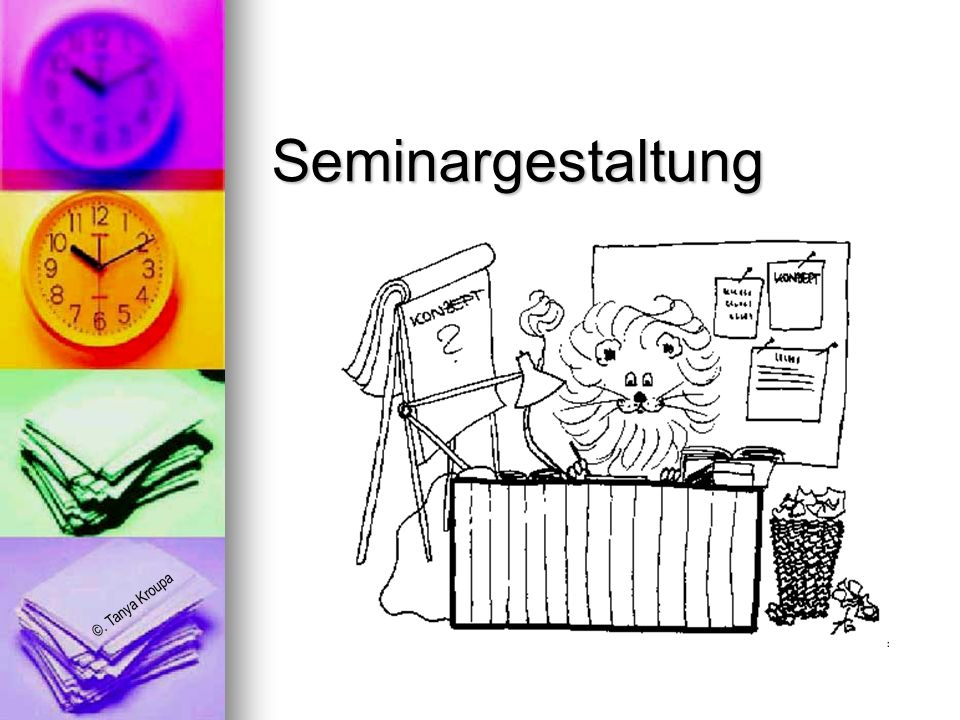Seminargestaltung
