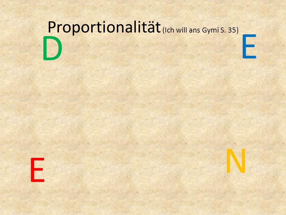 Proportionalität (Ich will ans Gymi S. 35)