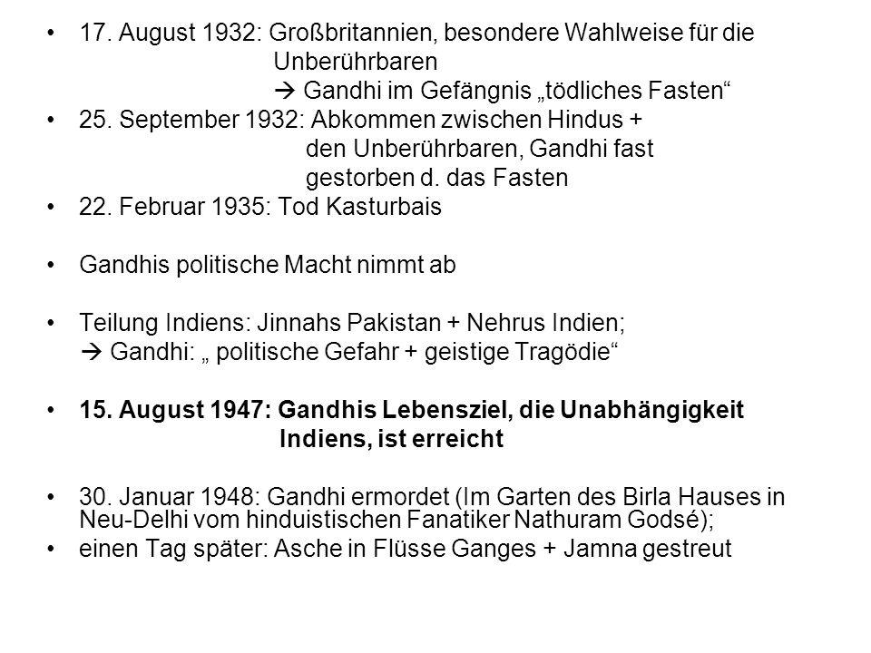 17. August 1932: Großbritannien, besondere Wahlweise für die