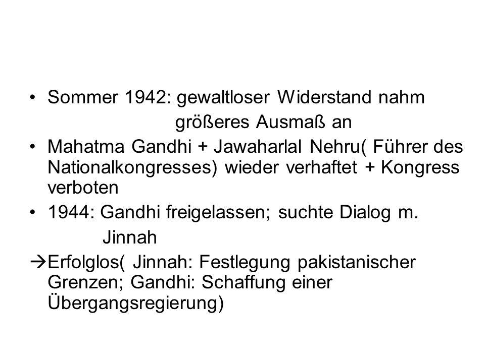 Sommer 1942: gewaltloser Widerstand nahm
