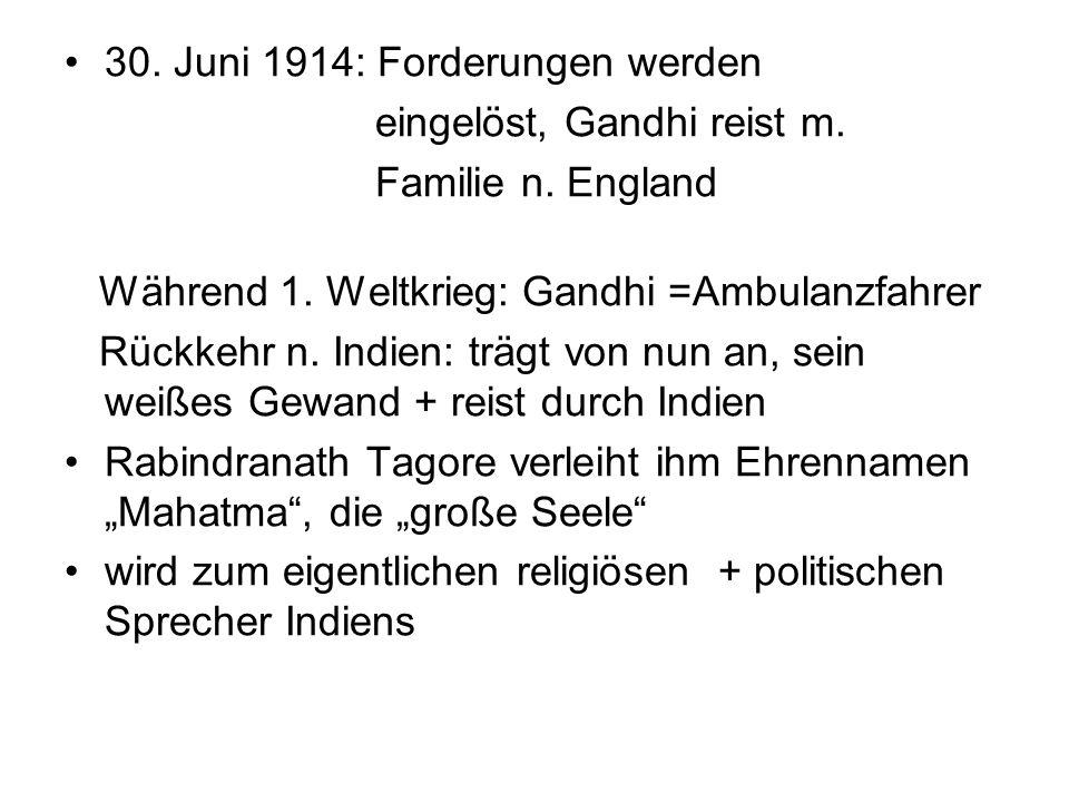 30. Juni 1914: Forderungen werden